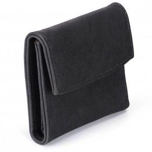 Handbags - Chic Solid Black Tri-Fold Vegan Leather Wallet